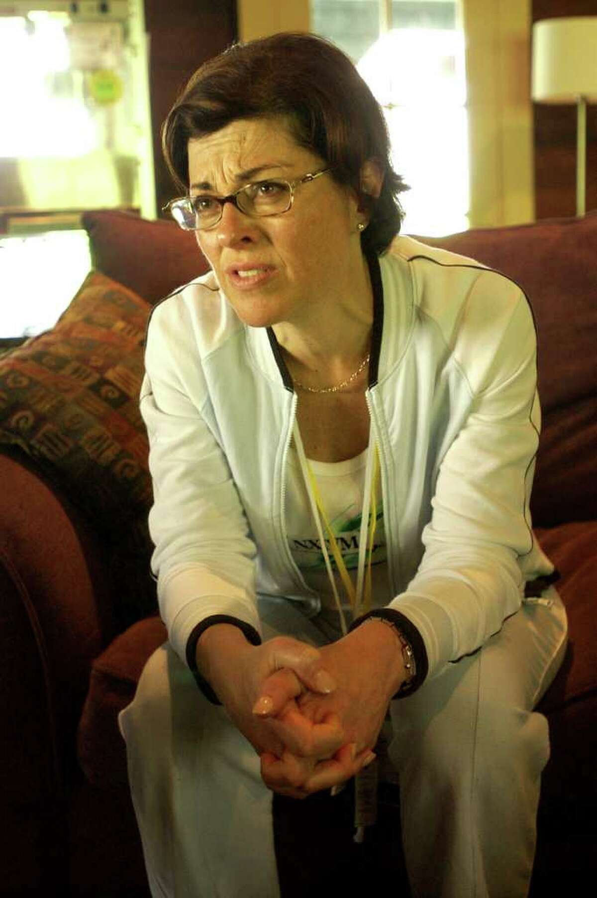 Nancy Salzman, NXIVM's president, during an interview Silver Bay Center on Lake George, for Vanguard week, Tuesday August 27, 2003.