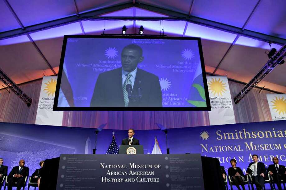U.S. President Barack Obama speaks at the groundbreaking of the Smithsonian National Museum of African American History and Culture in Washington, D.C., U.S., on Wednesday, Feb. 22, 2012. The museum is scheduled to open in 2015 and will be the only national museum devoted exclusively to the documentation of African American life, art, history and culture. Photographer: Andrew Harrer/Bloomberg *** Local Caption *** Barack Obama Photo: Andrew Harrer, Bloomberg / © 2012 Bloomberg Finance LP