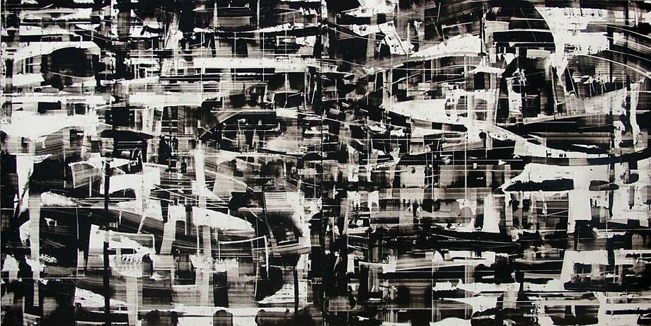 """Reflex 20"" (2011) oil on panels by Canan Tolon    16"" x 32"" Photo: Unknown"
