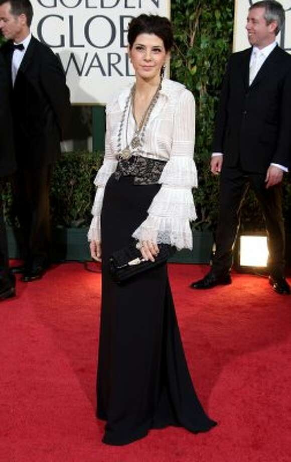 Ahoy matey: Marisa Tomei you're up next on the plank after showing up in this pirate-like look at the  Golden Globes in 2009.  (Photo by Frazer Harrison/Getty Images) (Frazer Harrison / Getty Images)