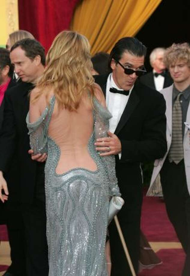Melanie Griffith's backside didn't benefit from a nude cover-up that produced unsightly wrinkles on a Botoxed red carpet in 2005. (Photo by Carlo Allegri/Getty Images) (Getty Images)