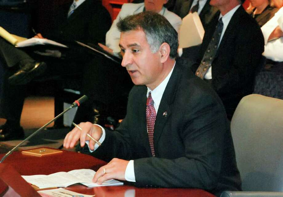 State Sen. Carlo Leone (D-Stamford, Darien) testified before the General AssemblyâÄôs Commerce Committee on the subject of unemployment among military veterans, and how Senate Bill 1, now before the committee, would help these veterans find good paying jobs. Photo: Contributed Photo / Darien News