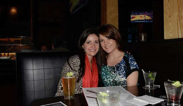 Jenna Osborn (cq) (left) and Margaret Oliver have a ladies' night at Stone Werks on February 18, 2012. Robin Johnson