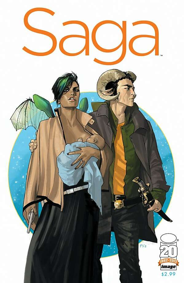 Saga #1 by Brian K. Vaughan and Fiona Staples Photo: Image Comics