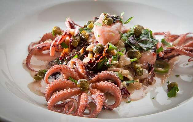 The Oven Roasted Octopus at Rosso Pizzeria in Santa Rosa, Calif., is seen on Saturday, February 18th, 2012. Photo: John Storey
