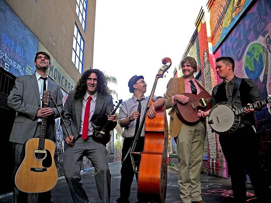 The Creak: Joe Boone (from left), Korey Kassir, Ryan Lim, Joe Readel, Chris Underwood. Photo: Max Tarcher