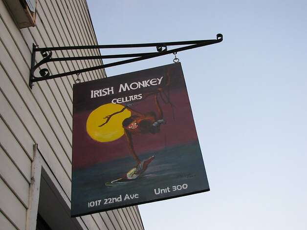 Irish Monkey Cellars tasting room serves wine from Sangiovese, Torrontes and other grapes from the Lovall Valley, Lodi and other California regions. Photo: Stephanie Wright Hession