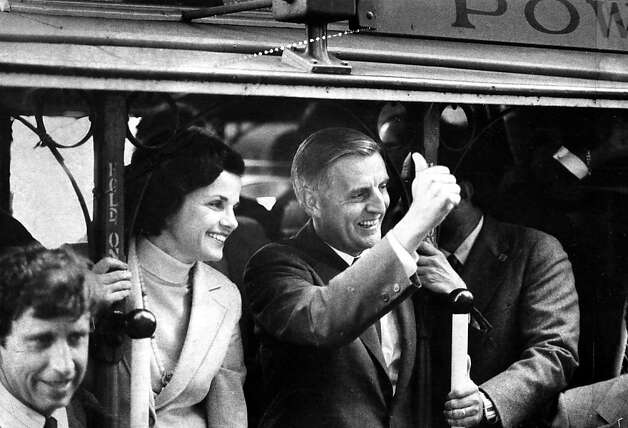 Sept. 5, 1980: Walter Mondale campaigns with Dianne Feinstein in SF. I'm a longtime DiFi fan, but I can't help noticing that every candidate she appears with in Chronicle photos ended up losing. ... CABLE CARS 3, WILLIE BROWN 2. Vici MacDonald Photo: Vici MacDonald, The Chronicle