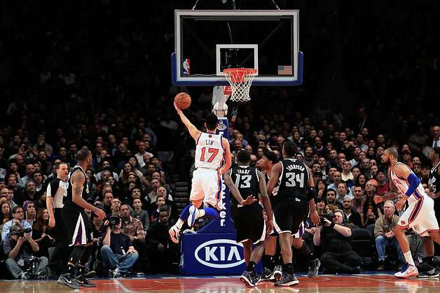 NEW YORK, NY - FEBRUARY 15:  Jeremy Lin #17 of the New York Knicks shoots against the Sacramento Kings at Madison Square Garden on February 15, 2012 in New York City. NOTE TO USER: User expressly acknowledges and agrees that, by downloading and/or using this Photograph, user is consenting to the terms and conditions of the Getty Images License Agreement.  (Photo by Chris Trotman/Getty Images) Photo: Chris Trotman, Getty Images