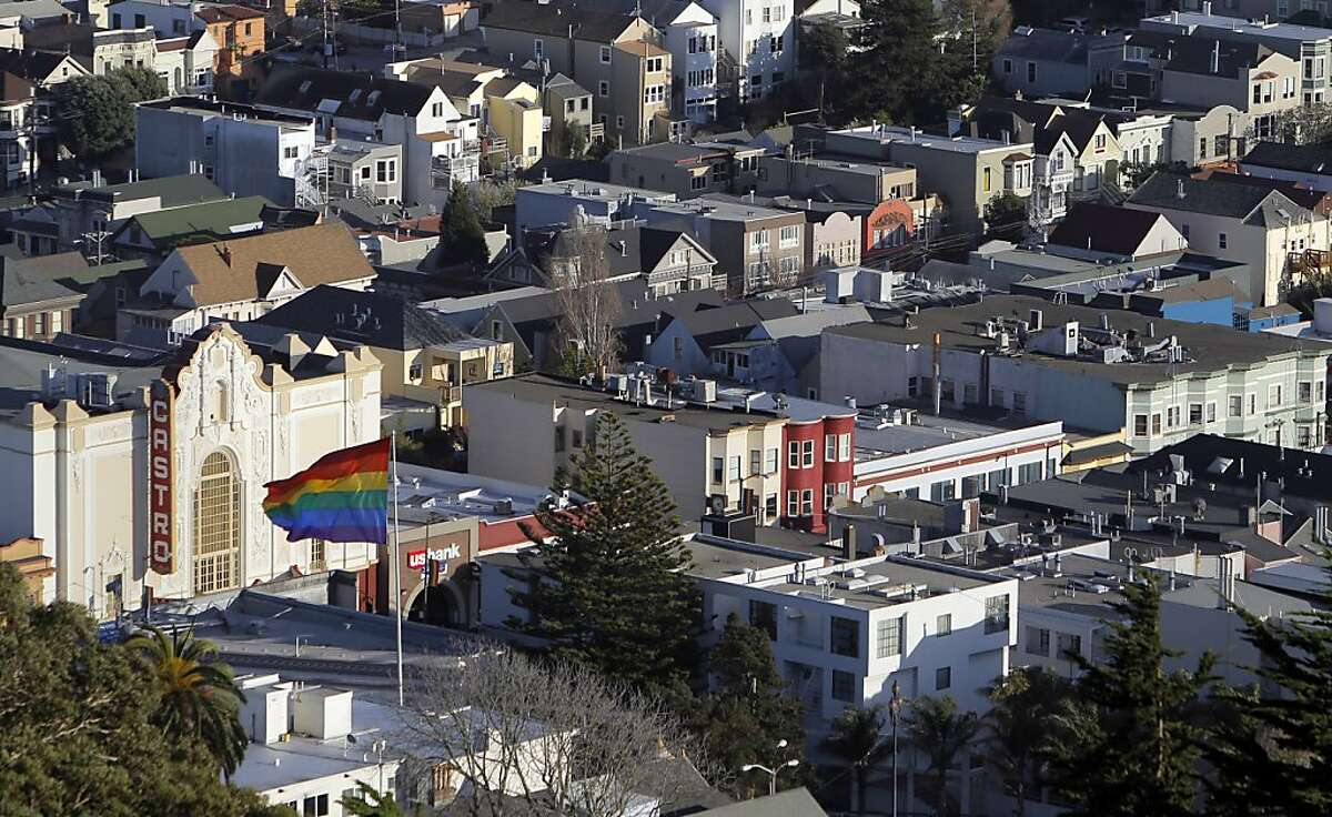 The Rainbow flag flies at the corner of Market and Castro Streets in San Francisco, Calif., on Wednesday, February 22, 2012, as some controversy might be unfurling with it. Other flags fly from time to time and critics are trying to broaden the number of honorees.
