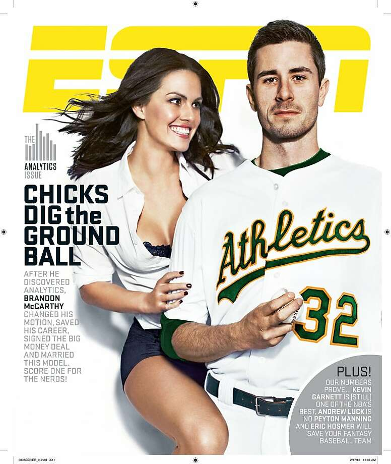 Brandon and Amanda McCarthy on the cover of ESPN the Magazine. Photo: ESPN The Magazine