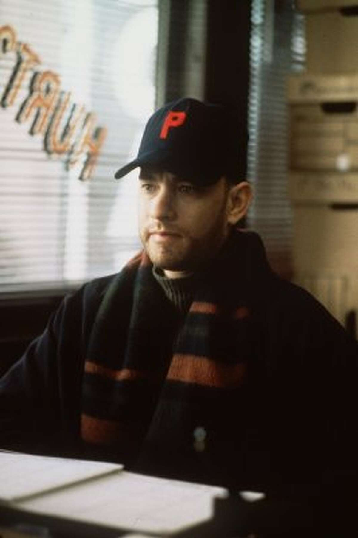 'Philadelphia' The 1993 film 'Philadelphia,' starring Tom Hanks. Hanks plays an HIV-positive attorney who is suing his former place of employment after Hanks' character gets fired.