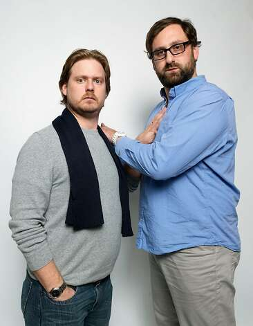 "Writer/directors Tim Heidecker, left, and Eric Wareheim, from the film ""Tim and Eric's Billion Dollar Movie,"" pose for a portrait during the 2012 Sundance Film Festival on Saturday, Jan. 21, 2012, in Park City, Utah. (AP Photo/Victoria Will) Photo: Victoria Will, Associated Press"