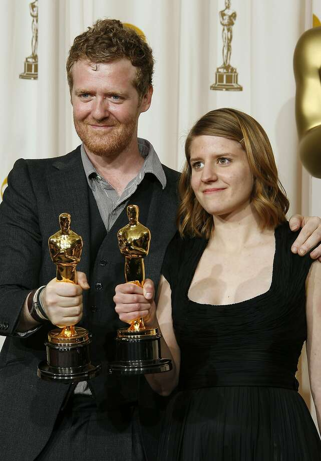 "Glen Hansard and Markéta Irglová won the 2007 Oscar for ""Falling Slowly"" - and she even got to finish her speech. Photo: Vince Bucci, Getty Images"