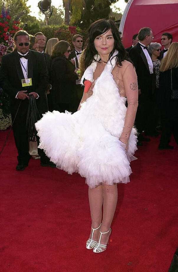 Take a look at some of the worst Oscar looks, they're so bad they defy description (so we won't even bother).Bjork, 2001.  Photo: LUCY NICHOLSON, AFP/Getty Images / AFP