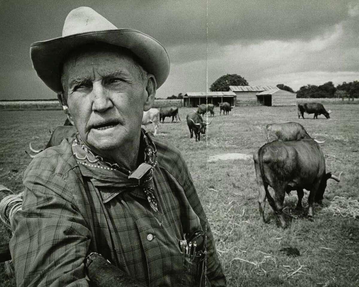 E.H. Marks, founder of LH7 Ranch, pictured in 1966, was a second-generation cowboy, a flamboyant storyteller and the kind of Texan that New Yorkers picture when they think about Texas.