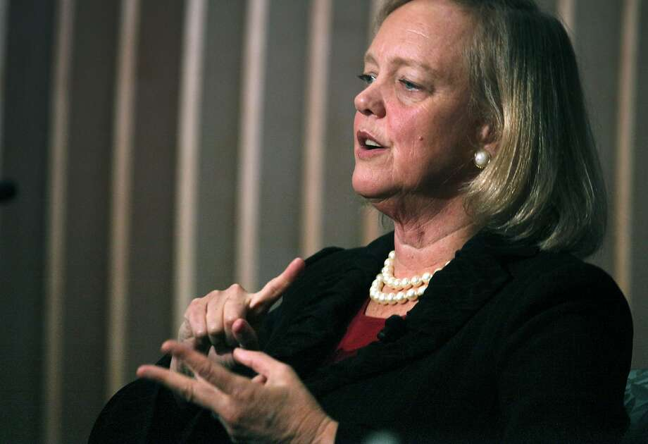 Former CA GOP candidate and newly appointed HP CEO Meg Whitman was the guest speaker at the Public Policy Institute of California Wednesday October 5, 2011. Mark Baldassare from the PPICÕs was the moderator as Whitman assured a verity of questions from the audience about the state of California's economy. Photo: Lance Iversen, The Chronicle