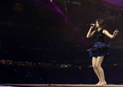 Selena Gomez performs during the 2011 Houston Livestock Show and Rodeo. (Karen Warren / Houston Chronicle)