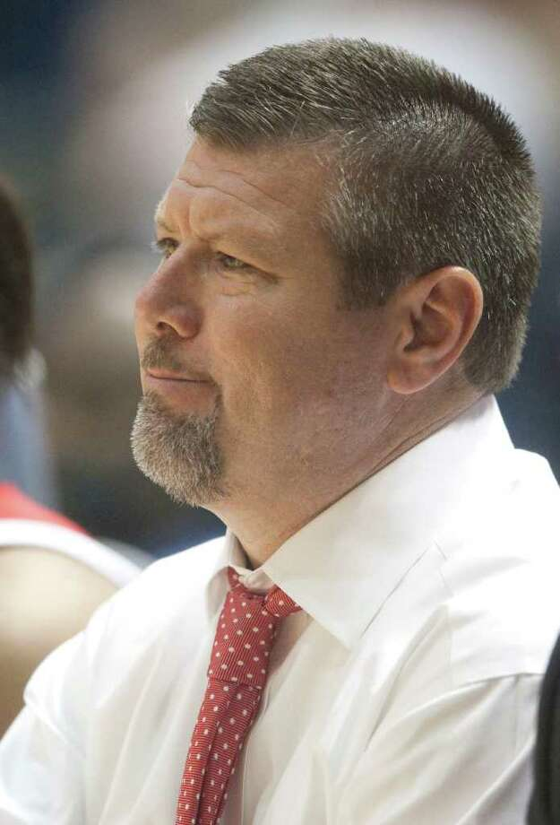 UH head toach Todd Buchanan was with the Cougars for part of four seasons. He previously coached at Houston Baptist before leaving for UH. Photo: J. Patric Schneider, For The Chronicle / Houston Chronicle
