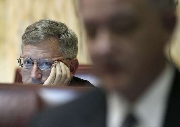 Sen. Joseph Getty, R-Carroll, listens to a debate on a gay marriage bill in Annapolis, Md., Thursday, Feb. 23, 2012. The Senate approved the bill, and Gov. Martin O'Malley is expected to sign it next week. Photo: Patrick Semansky, Associated Press