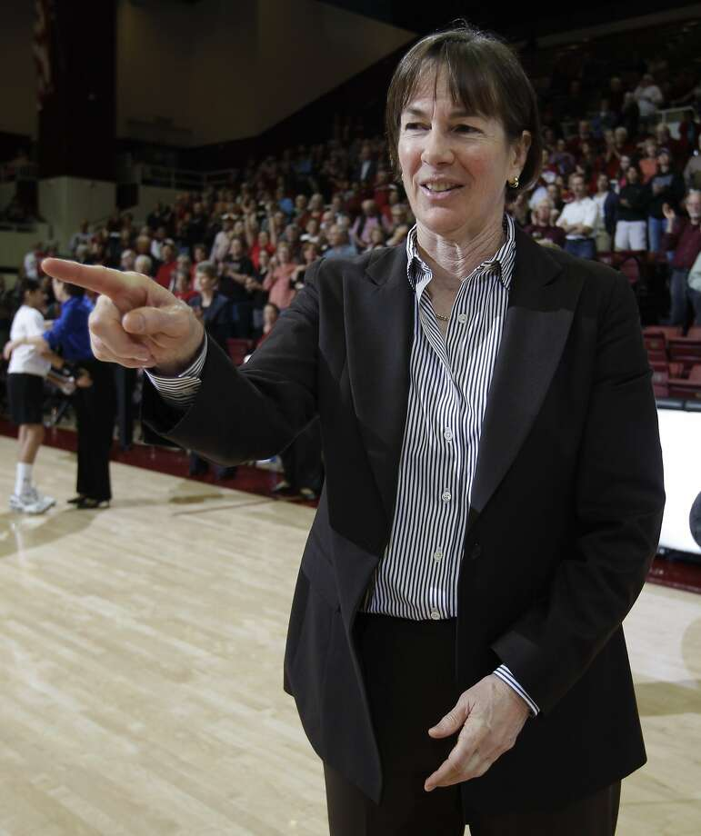 Stanford head coach Tara VanDerveer smiles after their game against Colorado in an NCAA college basketball game in Stanford, Calif., Thursday, Feb. 23, 2012.  Stanford defeated Colorado 68-46. Photo: Paul Sakuma, Associated Press