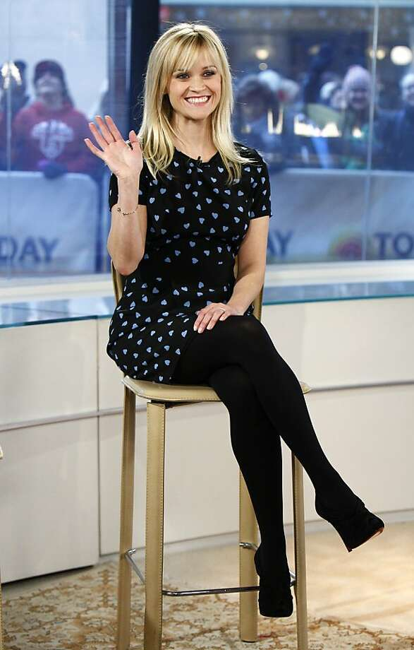 "In this image released by NBC, actress Reese Witherspoon appears on the ""Today"" show to talk about her new movie ""This Means War,"" Monday, Feb. 13, 2012 in New York. (AP Photo/NBC, Peter Kramer) Photo: Peter Kramer, Associated Press"