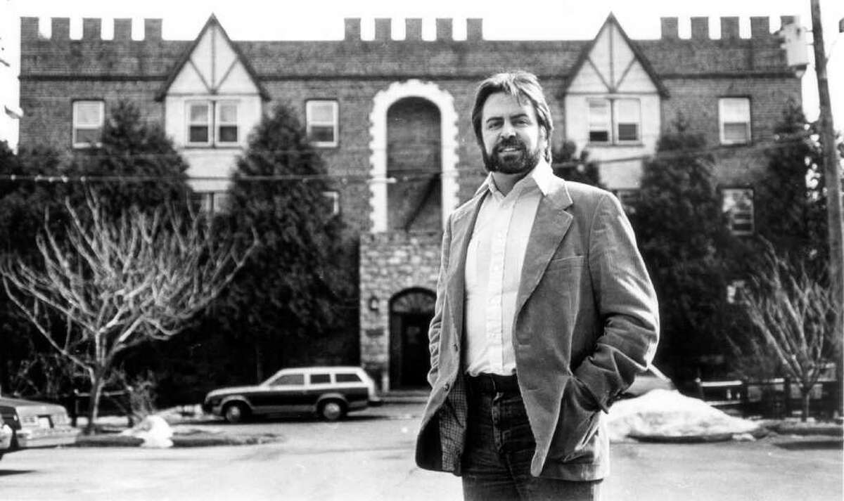 Feb. 27, 1987: Patrick Donahue, executive director of Laurel House, stands in front of his organization's home, which the group had just purchased.