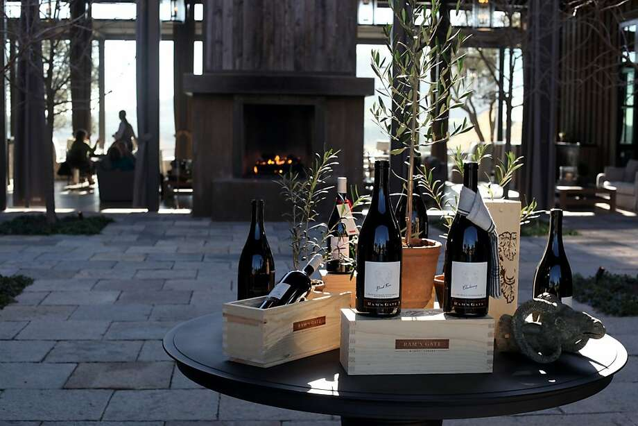 People enjoy lunch as they enjoy the view from the hillside at the Ram's Gate Winery, Thursday January 5, 2012, in Sonoma, Calif. Photo: Lacy Atkins, The Chronicle