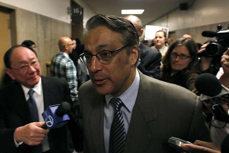Sheriff Ross Mirkarimi leaves the Hall of Justice after a judge was assigned to his domestic violence trial in San Francisco, Calif. on Friday, Feb. 24, 2012. Photo: Paul Chinn, The Chronicle