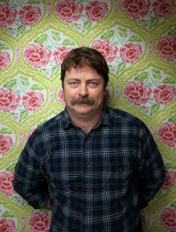 """Nick Offerman plays the gruff Ron Swanson on NBC's """"Parks and Recreation."""" Photo: Victoria Will, Associated Press / AP2012"""