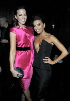 HOLLYWOOD, CA - FEBRUARY 23:  Actresses Kate Beckinsale (L) and Eva Longoria attend the Vanity Fair and Chrysler celebration of The Eva Longoria Foundation hosted by Eva Longoria on Thursday, February 23 at Beso Hollywood.  (Photo by Charley Gallay/Getty Images for VF) (Charley Gallay / 2012 Getty Images)