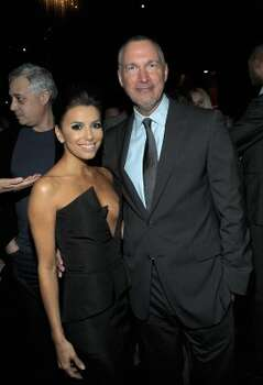HOLLYWOOD, CA - FEBRUARY 23:  Actress Eva Longoria (L) and Vanity Fair Publisher Edward Menicheschi attend the Vanity Fair and Chrysler celebration of The Eva Longoria Foundation hosted by Eva Longoria on Thursday, February 23 at Beso Hollywood.  (Photo by Charley Gallay/Getty Images for VF) (Charley Gallay / 2012 Getty Images)