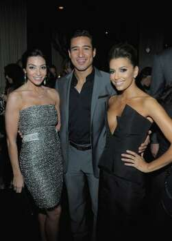 HOLLYWOOD, CA - FEBRUARY 23:  (L-R) Courtney Mazza, TV Personality Mario Lopez and actress Eva Longoria attend the Vanity Fair and Chrysler celebration of The Eva Longoria Foundation hosted by Eva Longoria on Thursday, February 23 at Beso Hollywood.  (Photo by Charley Gallay/Getty Images for VF) (Charley Gallay / 2012 Getty Images)