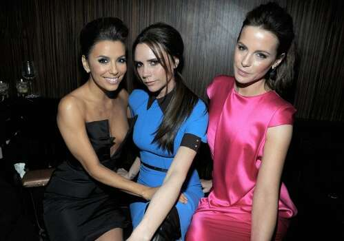 HOLLYWOOD, CA - FEBRUARY 23:  Actress Eva Longoria, designer Victoria Beckham and actress Kate Beckinsale attend the Vanity Fair and Chrysler celebration of The Eva Longoria Foundation hosted by Eva Longoria on Thursday, February 23 at Beso Hollywood.  (Photo by Charley Gallay/Getty Images for VF) (Charley Gallay / 2012 Getty Images)