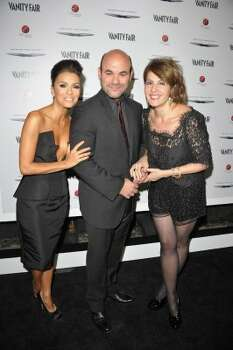 HOLLYWOOD, CA - FEBRUARY 23:  (L-R) Actors Eva Longoria, Ian Gomez and Nia Vardalos attend the Vanity Fair and Chrysler celebration of The Eva Longoria Foundation hosted by Eva Longoria on Thursday, February 23 at Beso Hollywood.  (Photo by John Shearer/Getty Images for VF) (John Shearer / 2012 Getty Images)