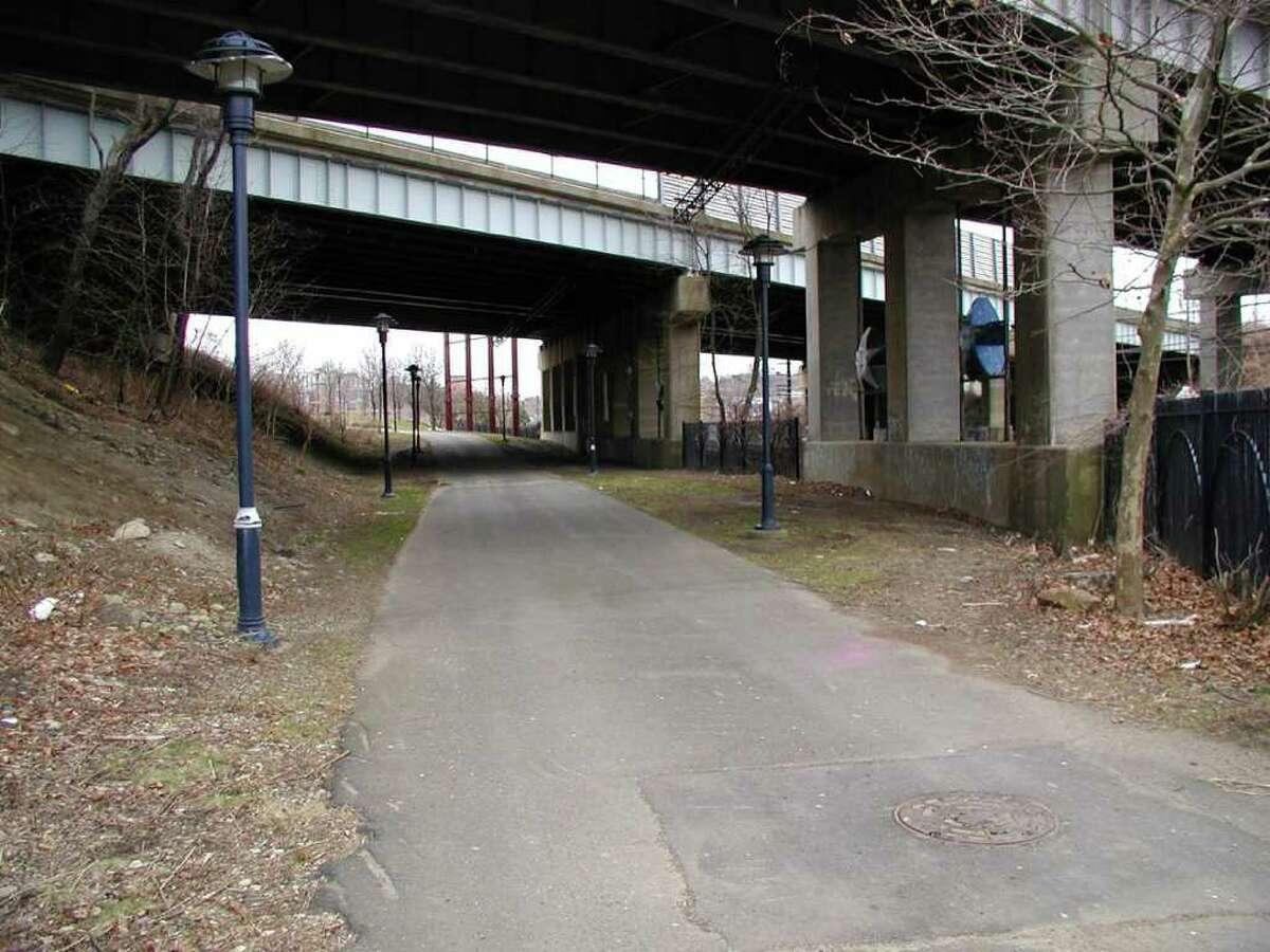 The Heritage Trail underpass as it looks today is uninviting to pedestrians.