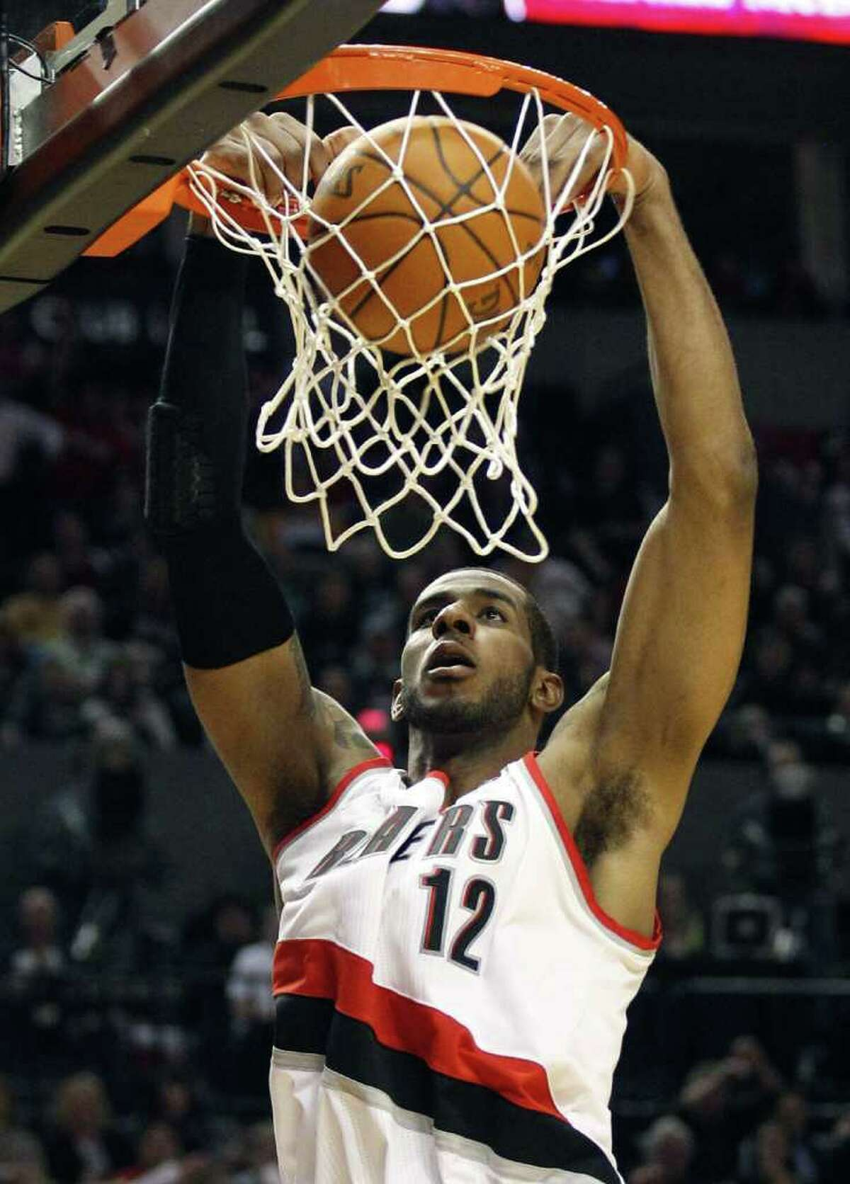 Trail Blazers forward LaMarcus Aldridge went pro after two seasons at UT, just months before Durant arrived in Austin, but he says he doesn't regret it.