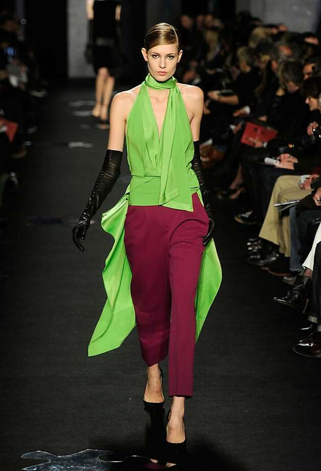 Diane von Furstenberg picked up on the fall season's color palette at Mercedes-Benz Fashion Week. Photo: Frazer Harrison, Getty Images  For Mercedes-Benz