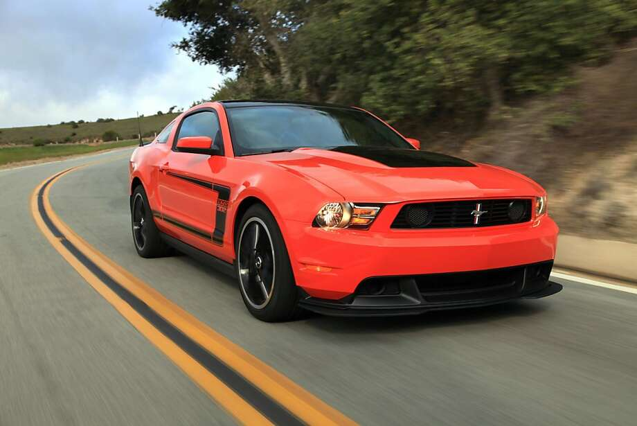 The limited-production 2012 Mustang Boss 302, set to become the quickest, best-handling straight-production Mustang ever offered by Ford, was previewed to the media this week in a drive event along the California coast and at Laguna Seca Raceway. Photo: Courtesy Of Ford