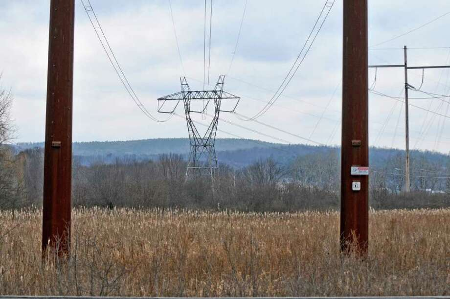 View of power lines on Wednesday Feb. 15, 2012 in Guilderland, NY.  (Philip Kamrass / Times Union ) Photo: Philip Kamrass / 00016454A