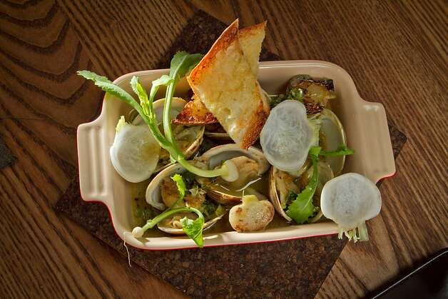 Clams in a broth mildly flavored with vadouvan and charred turnips - one of the best dishes at Haven. Photo: John Storey