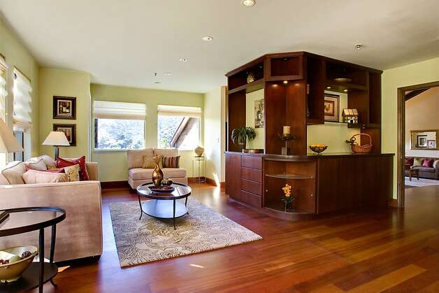 The family room connects to the living room and kitchen. Photo: Jason Wells