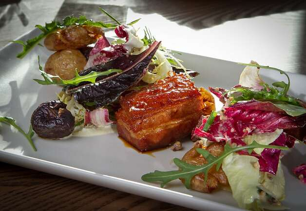 Chicory with Braised Bacon at Haven Restaurant in Oakland, Calif., is seen on Sunday, February 19th, 2012. Photo: John Storey