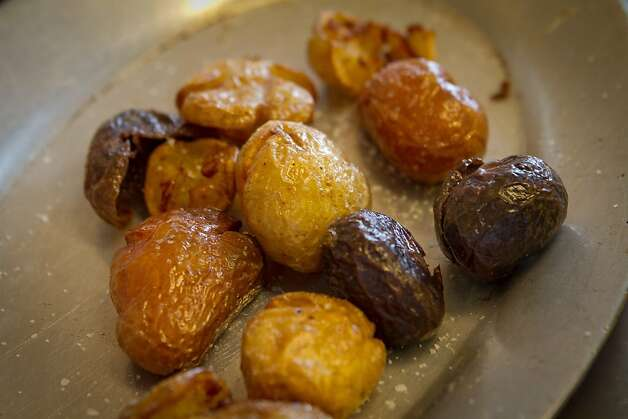 Roasted Marble Potatoes Haven Restaurant in Oakland, Calif., are seen on Sunday, February 19th, 2012. Photo: John Storey