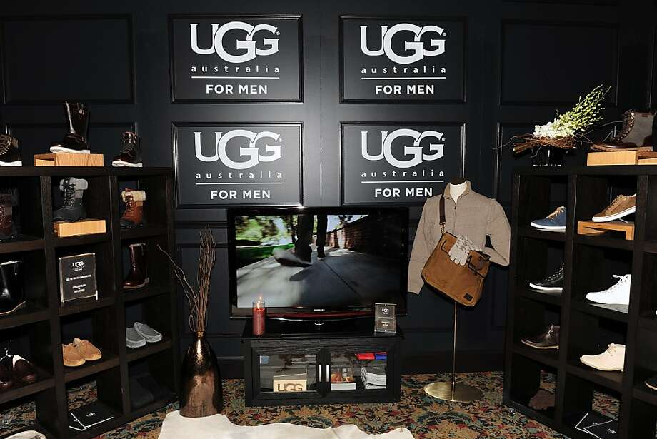 Ugg showed off its men's line at the NFL Honors Experience Suite for athletes and celebrities in Indianapolis before the Super Bowl in February. Photo: G. Newman Lowrance, Associated Press
