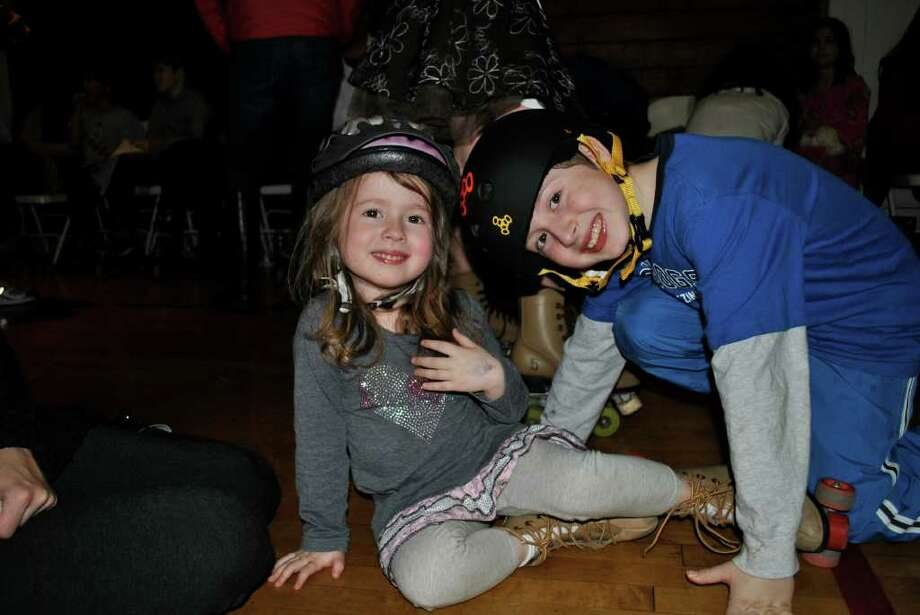 Greenwich Roller Skating's new themed roller skating night at the Eastern Greenwich Civic Center in Old Greenwich on February 24. Photo: Lauren Stevens/Hearst Connecticut Media Group