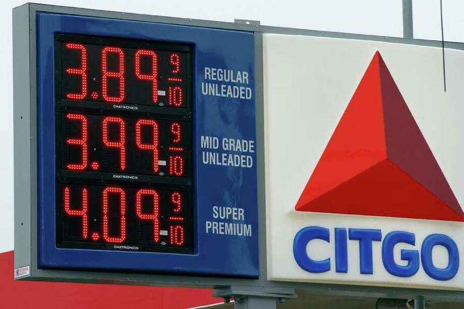 Gas prices are posted at the Citgo gas station Friday, Feb. 24, 2012 in Philadelphia. The price of gasoline, which is made from crude oil, has soared as oil prices rise. The national average jumped by nearly 12 cents per gallon in a week, with state averages above $4 per gallon in California, Alaska and Hawaii. Photo: Alex Brandon