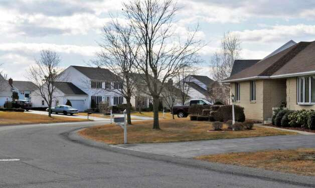 Homes along Dogwood Lane in Colonie's Forest Meadows development in Friday Feb. 17, 2012.   (John Carl D'Annibale / Times Union) Photo: John Carl D'Annibale