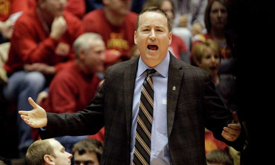 Aggies second-year coach Billy Kennedy said a 70-58 whipping of Houston at Hofheinz Pavilion on Dec. 1 had offered comfort. (AP Photo/Charlie Neibergall) Photo: Charlie Neibergall / AP