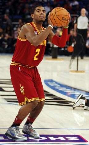 Cleveland Cavaliers' Kyrie Irving (2) participates in the NBA All-Star Skills Challenge basketball competition in Orlando, Fla., Saturday, Feb. 25, 2012. (AP Photo/Lynne Sladky) (AP) / SA